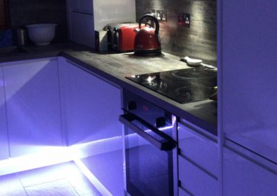 Under Cupboard Kitchen LED, Kitchen Lighting, Electrician, Wiring and repairs, Edinburgh, Lothians, Scotland